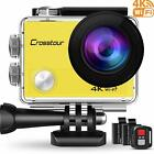 Crosstour 4K Action Camera 16Mp Wifi Underwater Cam 30M Waterproof Case Sports C