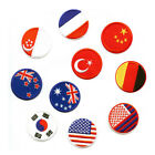 Round Flag Badges Embroidered Iron on Patch US UK Nation Flag Clothes Hat Crafts $0.99 USD on eBay