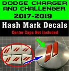 Custom Center Cap Overlay Decals Fits Dodge Charger and Challenge 2017 2018 2019 $9.95 USD on eBay