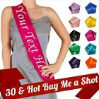 ROSE GOLD 30 & HOT BUY ME A SHOT Birthday Sash New Party 30th Age Gift Sashes