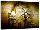 Banksy Port Talbot Seasons Greetings Art Reprint on Framed Canvas Wall Art decor