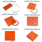 15W-1000W 110V-220V 3D Printer Heated Bed Silicone Heater Pad Mat Heating
