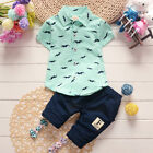 Summer Toddler Baby Kids Clothes Boys Outfits Sets Short Sleeve T-Shirt  Pants