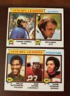 2- 1979 NFL & TOPPS *1978 NFL LEADERS* #4 & 5. TRADING CARDS