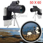 Monocular 50X60 Zoom Optical HD Lens Telescope +Tripod+Clip For Smart CELL Phone