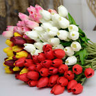 Tulips Artificial Flower Latex Real Touch Bridal Bouquet Wedding Home Decor Us