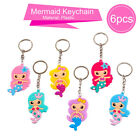 6 PCS Mermaid Rubber Necklace Bracelet Keychain Baby Shower Birthday Party Decor