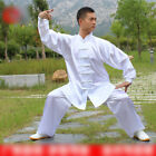 Men Womens Martial Arts Uniform Kung Fu Tai Chi Taekwondo Top pants Exercise Kid