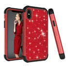 Heavy Duty Shockproof Rugged Rubber PC Bumper Armor Cover Case For iPhone XS Red