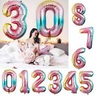 32inch Rainbow Color Foil Digital Number Balloons Birthday Wedding Party Decor