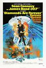 James Bond Poster//Vintage James Bond Movie Poster//Diamonds are Forever Movie P $177.37 CAD on eBay