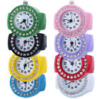 New Lady Girl Creative Fashion Steel Round Elastic Quartz Finger Ring Watch Gift image