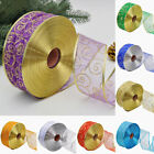 Glitter Christmas Bow Wreath Gift Wrap Wedding Wired Ribbon Decor Tool Utility