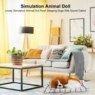 Lovely Simulation Plush Sleeping Dog Toy Doll with Sound Birthday Gifts