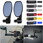"Universal Motorcycle 7/8"" Bar End Mirrors or Hand Grips For Honda Yamaha Suzuki $6.99 USD on eBay"