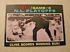 1971 Topps #201 1970 / Game #3 NL Playoffs Cline Scores Winning Run!