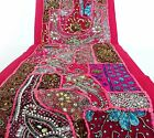 Table Linens Runner Wall Tapestry Hanging Beads Hand Embroidered Patchwork BR01