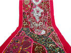 Table Linens Runner Wall Tapestry Hanging Beads Hand Embroidered Patchwork BR05