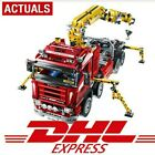 DHL 1877pcs Technic Ultimate Mechanical Series Electric Crane Truck Set