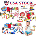 Children's Fun Musical Instrument Toy Set Wooden Percussion Kids Play Toy Gift