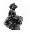 Blagdon Liberty Mini Boy and Puppy At The Well Bronze Effect Figurine Water Feat