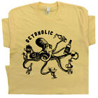 Funny Beer T Shirt Octoholic Vintage Octopus Moonshine Tequila Whisky Alcoholic