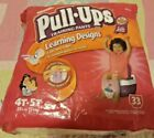 """1 Vintage 2006 4T-5 Purple Huggies Princesses Pull-Ups (fits up to 33"""") diapers"""