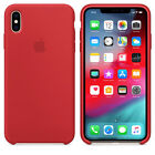 Phone XS MAX 6,5 Echt Original Apple Silikon Hülle Silicone Case RED ROT