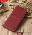 GEBEI magnetic Genuine Real Cowhide Leather Card Cover Case For Samsung Galaxy
