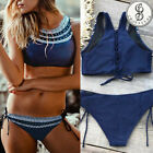 Bikini SET Womens Push-up Padded Top Bra Halter Swimsuit Swimwear Bathing Suit $7.35 USD on eBay