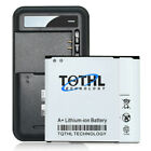 2pcs 4000mAh Extended Slim Battery+Charger 4 Samsung Galaxy S4 Active i9295 i537