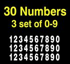 "3 Sets Of 10 Numbers 0-9 Vinyl Decals 3"" For Mailbox, Diesel Trucks , Boats"