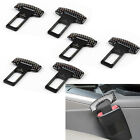 6P Carbon Fiber Car Safety Seat Pelt Puckle Alarm Stopper Clip Clamp Universal P