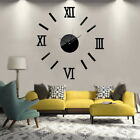 3d Large Number Mirror Wall Clock Sticker Decor For Home Office Kids Room Diy Uk