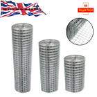 Welded Galvanised Wire Mesh Fence 1x1 Inch Aviary Rabbit Hutch Chicken Coop Pet