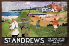 St Andrew's Golf Course Vintage Retro style Metal Sign, plaque, holiday, sport