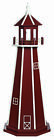 Amish Made Poly Garden Lighthouse - Standard - Cherrywood & White - Size Options
