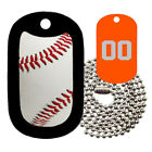 Real Baseball Tag with Customized Jersey Number on Back