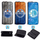 Edmonton Oilers Leather Wallet Purse Zip Around Card Phone Holder $15.99 USD on eBay
