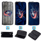 Columbus Blue Jackets Leather Wallet Purse Zip Around Card Phone Holder $15.99 USD on eBay