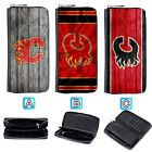 Calgary Flames Leather Wallet Purse Zip Around Card Phone Holder $15.99 USD on eBay