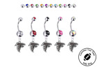 Atlanta Falcons Silver Belly Button Navel Ring - Customize Gem Color - NEW $9.99 USD on eBay