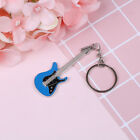Creative metal electric guitar mini keychain key chain key ring gifts Pip B$CA