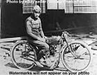 Antique/Old 1923 Harley Davidson Flat Twin Model W Racing Motorcycle Rider Photo $12.95 USD on eBay