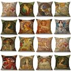 Alphonse Maria Mucha Painting Cushion Cover Woman Pattern Pillow Case Cover