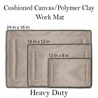Canvas Pottery Mat (Heavy duty work mat), Hand building mat, Pottery Tools, Clay image