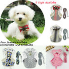 Breathable Mesh Small Dog Pet Harness and Leash Set Puppy Vest Chest Strap
