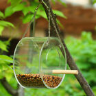 Outdoor Hanging Bird Feeder Box Anti Squirrel Mouse Food Grain Container Holder
