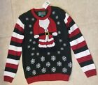 New Ugly Christmas Sweater Boys Girls Evergreen Santa Body Kids XL
