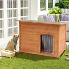 Insulated Wooden Dog Kennel Pet Puppy Weatherproof Outdoor Garden House Shelter